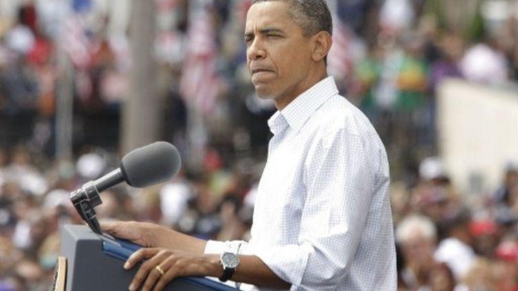 Barack Obama (le 5 septembre 2011 à Detroit): les sondages ont de quoi lui coller des grimaces... (Bill Pugliano - Getty Images - AFP)
