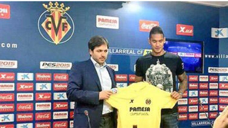Alphonse Areola lors de sa signature en prêt à Villareal