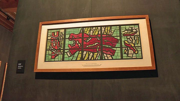 Vitrail de Fernand Léger (France 3 Grand Ouest)