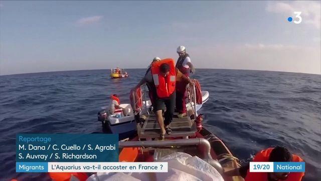"""Migrants : l'""""Aquarius"""" va-t-il accoster en France ?"""