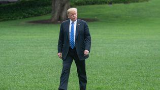 Le président américain Donald Trump, le 24 juillet 2018, à à Kansas City dans leMissouri. (NICHOLAS KAMM / AFP)