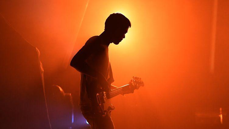 "L'artiste Nicolas Terroitin du duo ""Alber Jupiter"" aux 41e Trans Musicales de Rennes. (DAMIEN MEYER / AFP)"