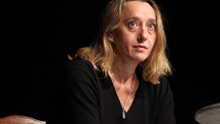 Virginie Despentes àl'occasion du 23eme prix Goncourt des lyceens en octobre 2010. (SIMON ISABELLE/SIPA)
