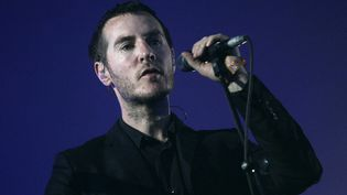 Robert Del Naja de Massive Attack en juillet 2008 aux Eurockéennes de Belfort.  (Pol Emile / SIPA)