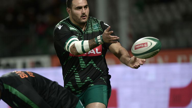Malik Hamadache, pilier de la Section Paloise (IROZ GAIZKA / AFP)