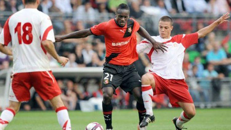 L'attaquant colombien de Rennes Hugo Montano
