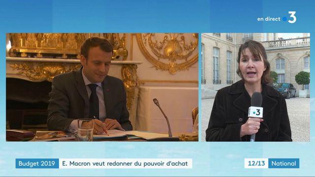Budget 2019 : Emmanuel Macron veut redonner du pouvoir d'achat aux Français