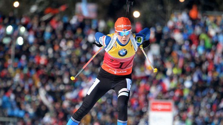 La biathlète finlandais Kaisa Makarainen