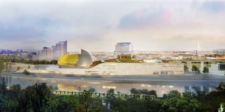 Le projet de Nouvelle Seine, perspective Berge Meudon.  (Shigeru Ban Architects Europe - Jean de Gastines Architectes)