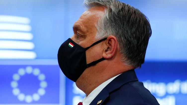 Le Premier ministre hongrois Viktor Orban lors du deuxième jour du sommet européen, le 25 mai 2021, à Bruxelles. (JOHANNA GERON / AFP)