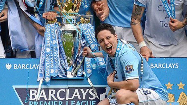 Samir Nasri, champion d'Angleterre avec Manchester City