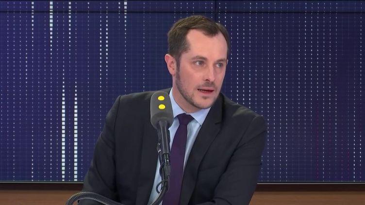 L'eurodéputé RN, Nicolas Bay, sur franceinfo le jeudi 20 février 2020. (FRANCEINFO / RADIOFRANCE)