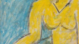 """""""Katia à la chemise jaune"""" de Henri Matisse (1951). (© LYON MBA – PHOTO MARTIAL COUDERETTE)"""