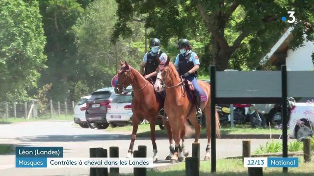 Port du masque : les gendarmes patouillent à cheval dans les Landes