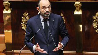 Le Premier ministre Édouard Philippe à l'Assemblée nationale le 3 mars 2020 (photo d'illustration). (LUDOVIC MARIN / AFP)