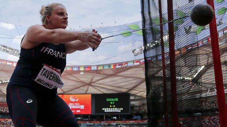 Alexandra Tavernier lors des Mondiaux d'athlétisme de Pékin (Chine),le 26 août 2015. (ADRIAN DENNIS / AFP)