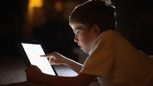 Une enquête européenne réalisée en janvier 2012 montre qu'en France, les 9-16 ans passent en moyenne deux heures par jour sur internet. (CHRISTOPHER FURLONG / GETTY IMAGES)