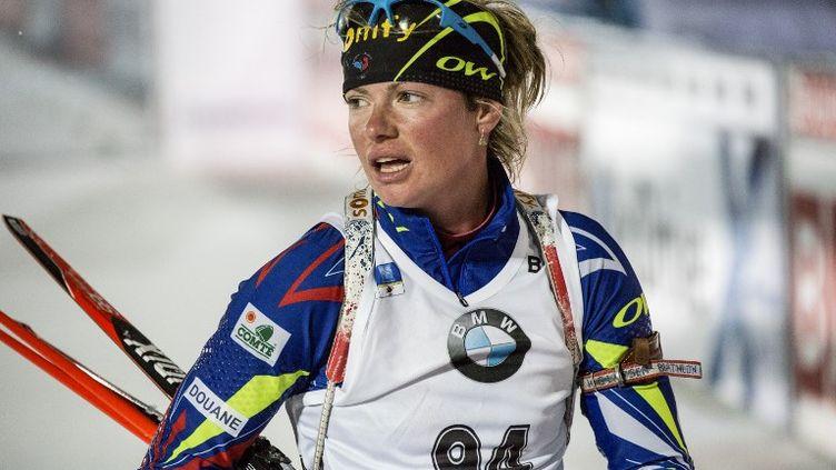 La Française Marie Dorin Habert (CHRISTINE OLSSON / TT NEWS AGENCY)