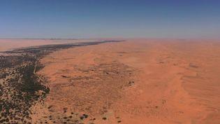 En Namibie, dans le plus vieux désert du monde, la proximité des dunes avec l'océan offre un paysage à couper le souffle. (CAPTURE ECRAN FRANCE 2)