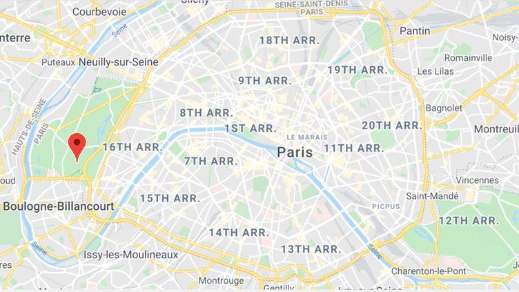 Le 16e arrondissement de Paris. (GOOGLE MAPS / FRANCEINFO)
