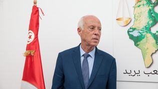 Kaïs Saied à Tunis (Tunisie), le 17 septembre 2019. (CHEDLY BEN IBRAHIM / NURPHOTO)