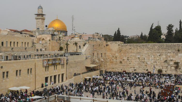 Le mur des Lamentations dansle quartier juif de la Vieille Ville de Jérusalem, le 3 avril 2018. (WINFRIED ROTHERMEL / PICTURE ALLIANCE / AFP)