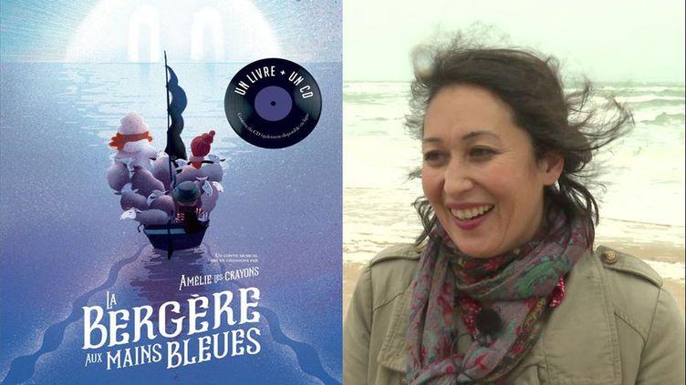La Bergère aux mains bleues, un livre-disque, aux éditions Margot, écrit par Pierre-Luc Granjon, illustré par Samuel Ribeyron et mis en chanson par Amélie-les-Crayons (© Samuel Ribeyron / Margot)