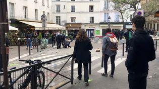 La place de la Contrescarpe à Paris le 1er mai 2018. (SOCIAL MEDIA / X04130)