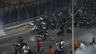 Les manifestations au Venezuela mercredi 1er mai 2019. (FRANCE 2)