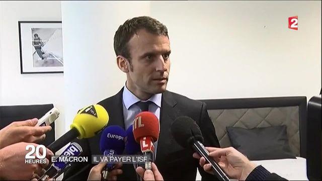"""""""Je suis en règle avec l'administration fiscale"""" assure Macron"""
