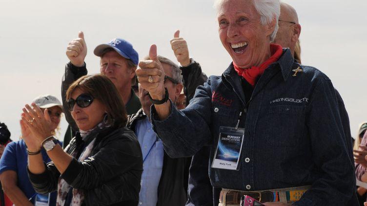 L'aviatrice Wally Funk, le 22 octobre 2020 à Las Cruces, au Nouveau-Mexique (Etats-Unis). (MARK RALSTON / AFP)