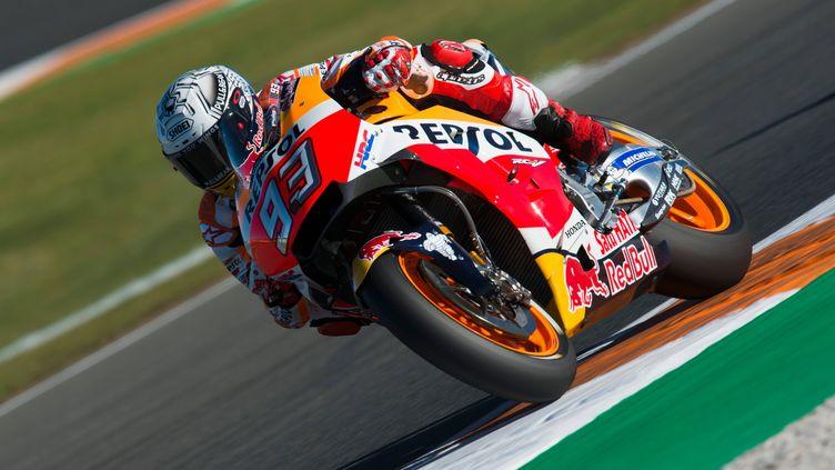 Marc Marquez (Honda) en pole à valence