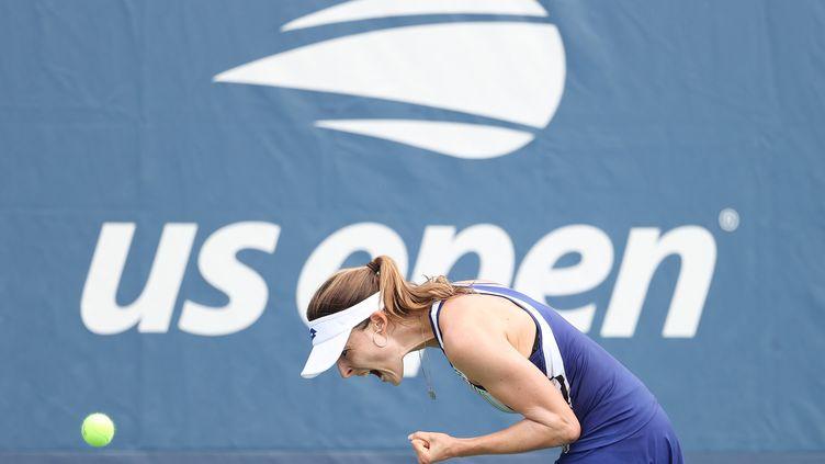 La rage de la Française Alizé Cornet à l'US Open 2020 (AL BELLO / GETTY IMAGES NORTH AMERICA)