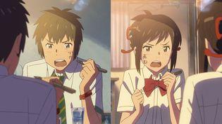 """Your Name"" de Makoto Shinkai  (2016 TOHO CO., LTD. / CoMix Wave Films Inc. / KADOKAWA CORPORATION / East Japan Marketing & Communications,Inc. / AMUSE INC. / voque ting co.,ltd. / Lawson HMV Entertainment, Inc)"