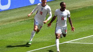 Raheem Sterling a ouvert le score pour l'Angleterre face à la Croatie, le 13 juin (JUSTIN TALLIS / POOL)