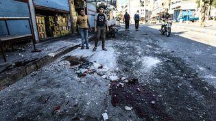 La ville rurale d'Ariha à Idlib où a eu lieu le bombardement, dans le nord-ouest de la Syrie, le 20 octobre 2021. (IZZETTIN KASIM / ANADOLU AGENCY / AFP)