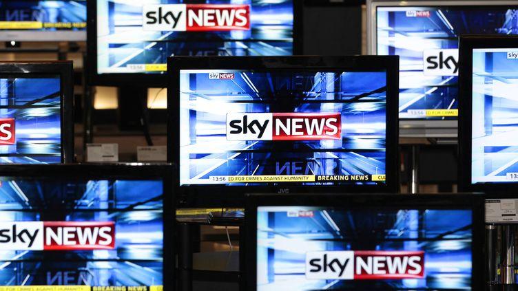 Le logo de la chaîne Sky News, en 2011. (Photo d'illustration) (DAVID MOIR / REUTERS)