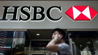 """En parallèle de sa restructuration, HSBC entend """"accélérer ses investissements en Asie"""" avec une attention particulière pour la gestion d'actifs et l'assurance. (PHILIPPE LOPEZ / AFP)"""