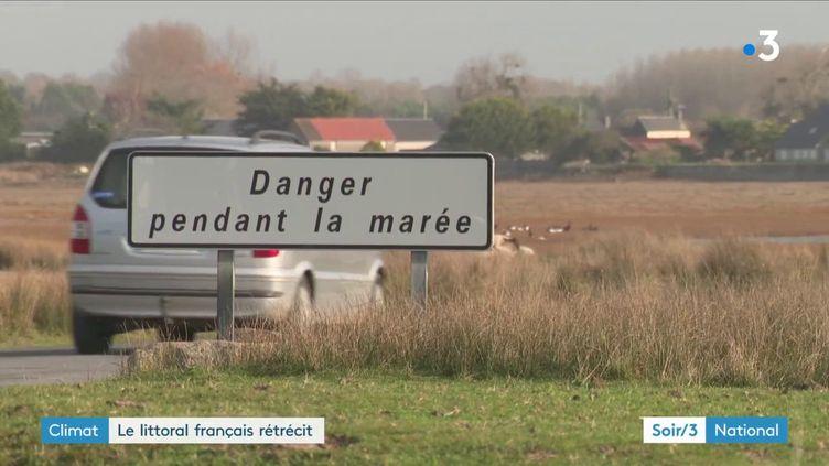 Le littoral de la Manche rogné par la mer (France 3)