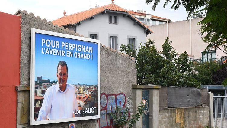 Louis Aliot est candidat à la mairie de Perpignan avec une liste sans étiquette. (MICHEL CLEMENTZ / MAXPPP)