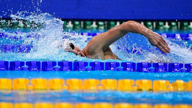 La nageuse polonaise Alicja Tchorz a dû rentrer dans son pays et ne participera pas aux JO de Tokyo, suite à une erreur administrative commise par sa fédération. (TOBIAS SCHWARZ / AFP)