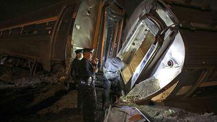 Un train a déraillé à Philadelphie (Etats-Unis), le 12 mai 2015. (JOSEPH KACZMAREK/AP/SIPA / AP)