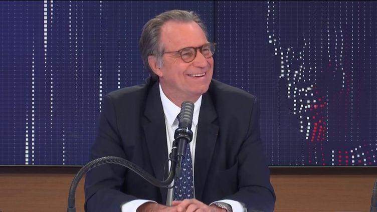 """Renaud Muselier,président de la Région Sud PACA, était l'invité du """"8h30 franceinfo"""", mercredi 7 avril 2021. (FRANCEINFO / RADIOFRANCE)"""
