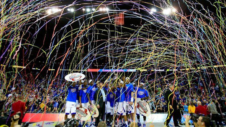 Les Jayhawks de Kansas, vainqueurs de la conférence Big 12 cette saison (JAMIE SQUIRE / GETTY IMAGES NORTH AMERICA)