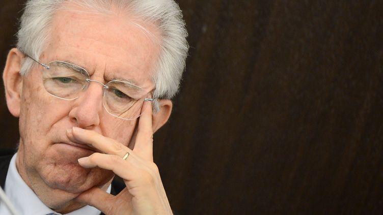 Mario Monti,le président du Conseil italien, dont le pays affiche une contraction du PIB de 0,8% au premier trimestre 2012. (ANDREAS SOLARO / AFP)
