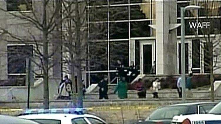 Sur le campus de l'université de Huntsville (Alabama) (AFP - WAFF - CNN)