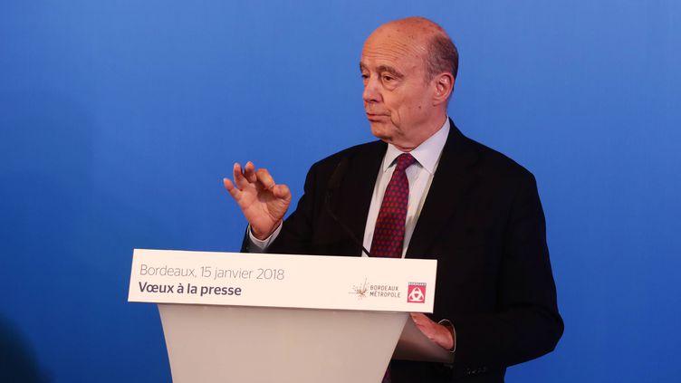Alain Juppé lors de ses vœux à la presse à Bordeaux, le 15 janvier 2018. (MAXPPP)