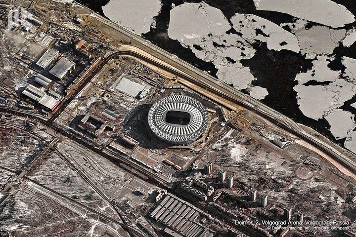 La Volgograd Arena a également été construite pour la Coupe du monde et peut accuellir 45 000 personnes. (DEIMOS IMAGING / URTHECAST)