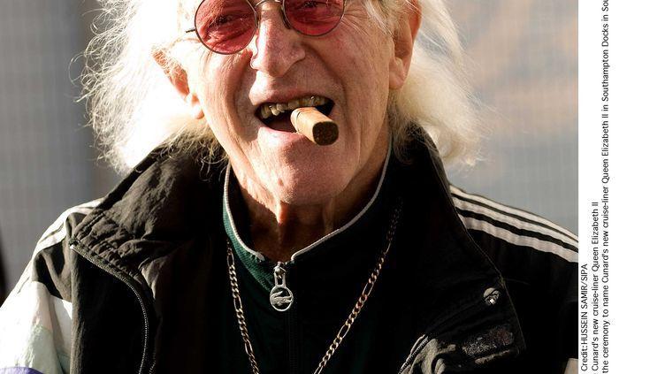 L'ancien animateur britannique Jimmy Savile àSouthampton (Angleterre), le 11 octobre 2010. (HUSSEIN SAMIR / SIPA)