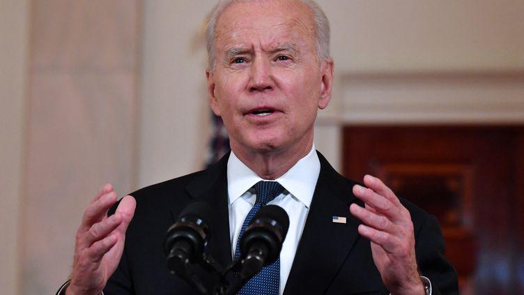Joe Biden, président des Etats-Unis à la Maison Blanche à Washington (district de Colombie), le 20 mai 2021. (NICHOLAS KAMM / AFP)